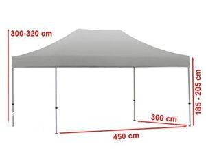 Die Maße eines klapp pavillon mit Seitenteilen.